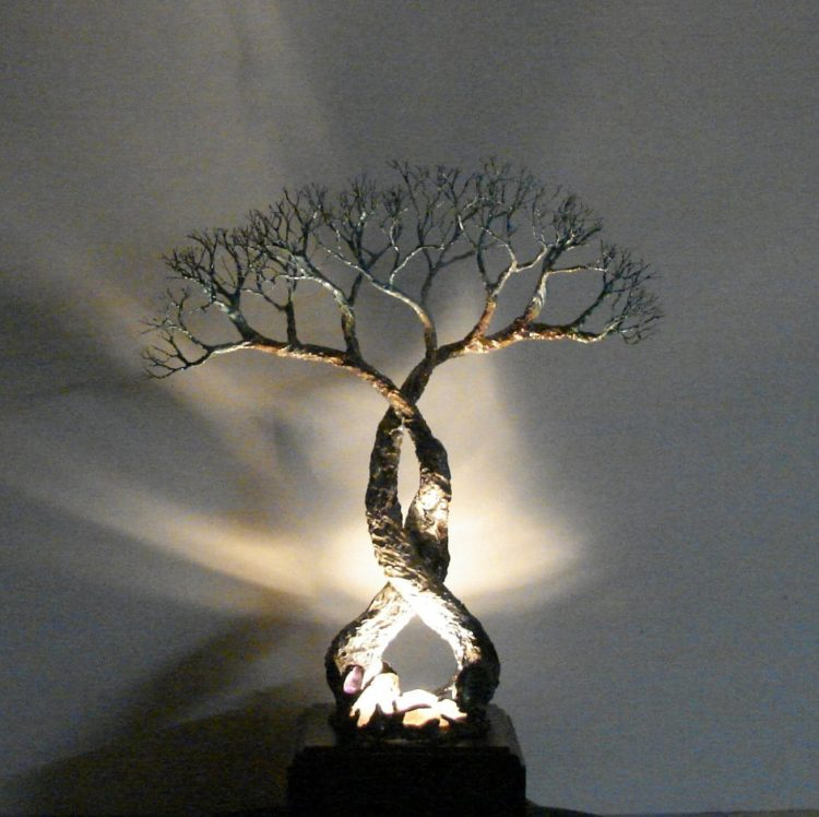 Wire Tree Of Life Soul Mates Table Lamp Table Lamps Wood Lamps