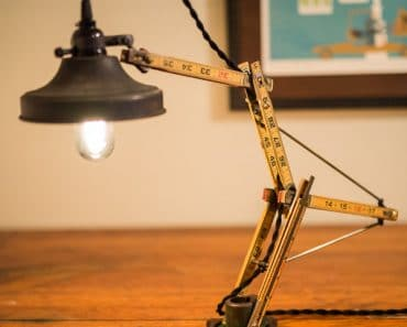 Woodworker, Carpenter check this lamp Unruly A desk lamp folding ruler