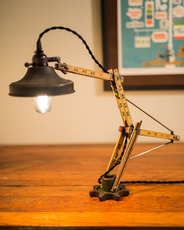 Woodworker, Carpenter check this lamp! Unruly: A desk lamp folding ruler - desk-lamps