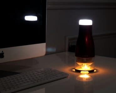 Candle Powered LED Lamp Without any External Power Supply2