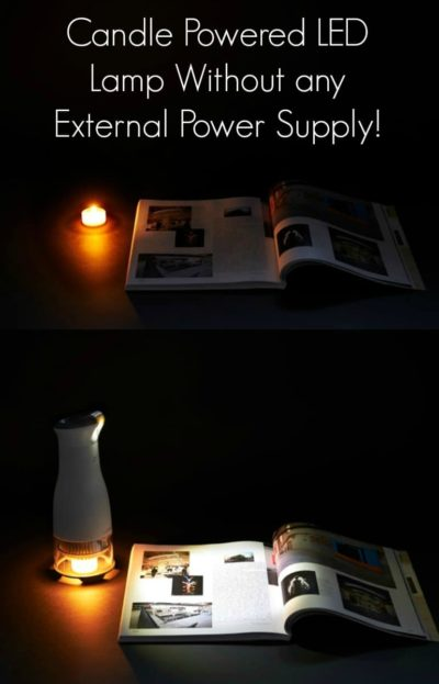Candle Powered LED Desk Lamp