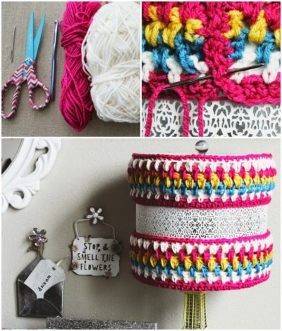 DIY Crocheted Lamp Cozy14