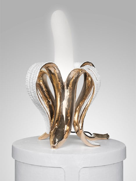 Golden Bronze Banana Lamp