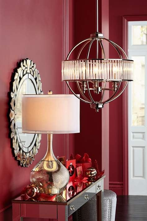 Possini Modern Mercury Glass Table Lamp - table-lamps