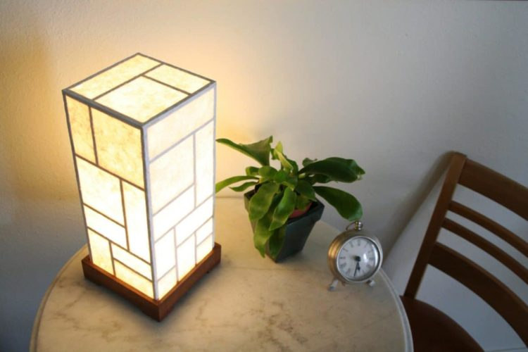 Selection of 10 Japanese Lamps - wood-lamps, table-lamps