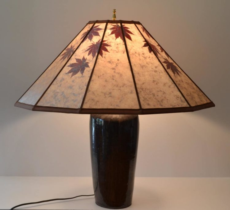 Selection of 10 Japanese Lamps Table Lamps Wood Lamps