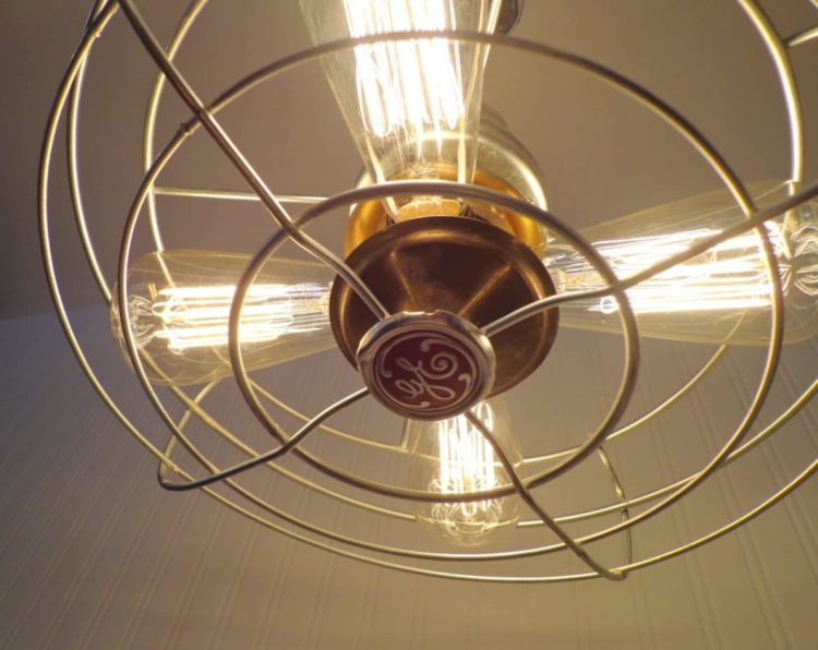 Early 1900's Chrome and Iron Vintage Fan