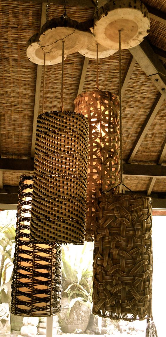 Gorgeous Handmade Wood Furniture from Bali - wood-lamps, pendant-lighting