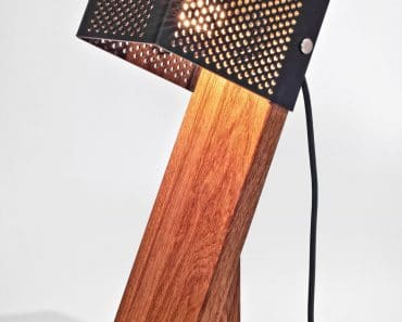 Handcrafted Oblic Table Lamp