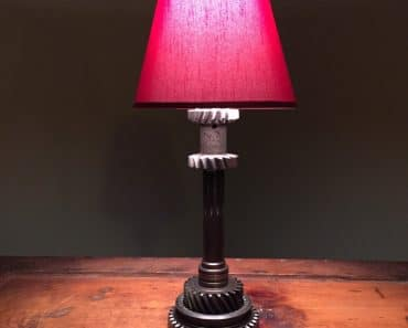 Hot Rod Table Lamp made from various Engine Parts