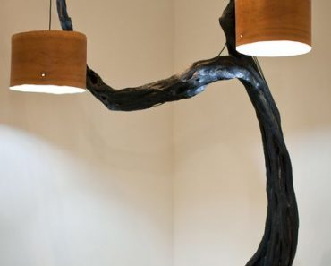 Huge Pendant Lamp with Tree Base