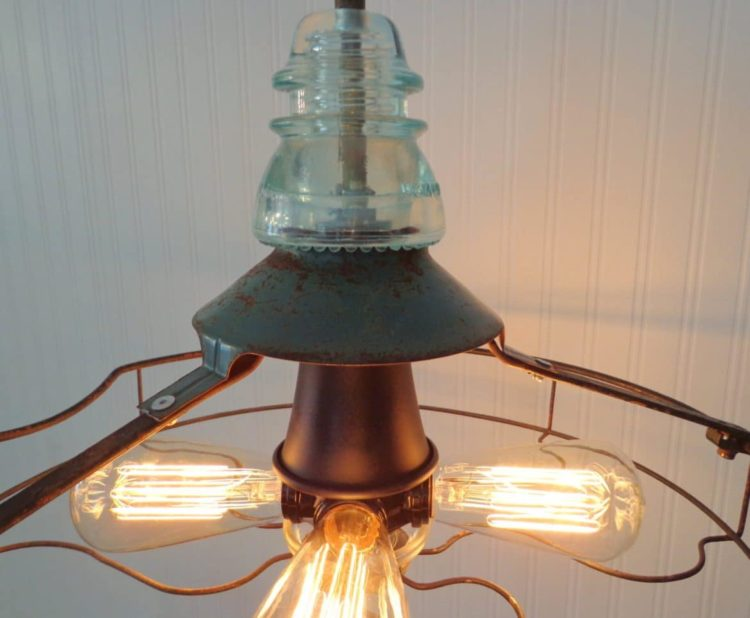Industrial Vintage Fan Chandelier with Edison Filament Bulbs Pendant Lighting