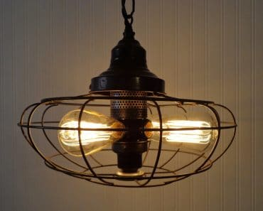 One-of-a-kind Industrial Light Chandelier