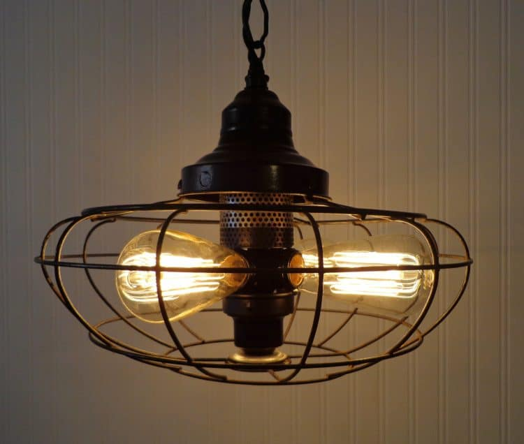 One-of-a-kind Fan Rustic Vintage Chandelier - pendant-lighting