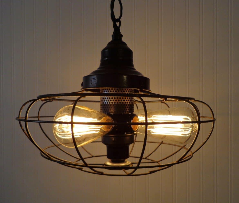 One Of A Kind Fan Rustic Vintage Chandelier Id Lights