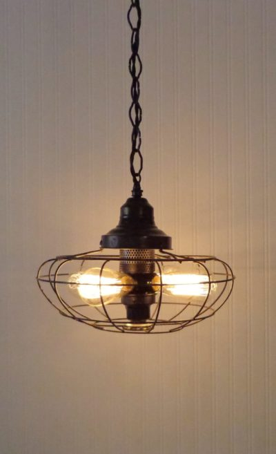 One-of-a-kind Fan Rustic Vintage Chandelier