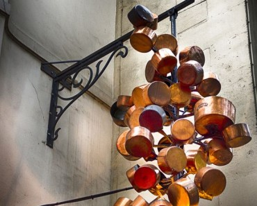Outdoor Light Fixture Recreated with Copper in Paris