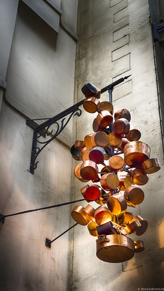 Outdoor Lighting Recreated with Copper in Paris Outdoor Lighting