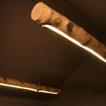 Raw Beam Wood Light Fixture from Sweden Floor Lamps Pendant Lighting Wood Lamps