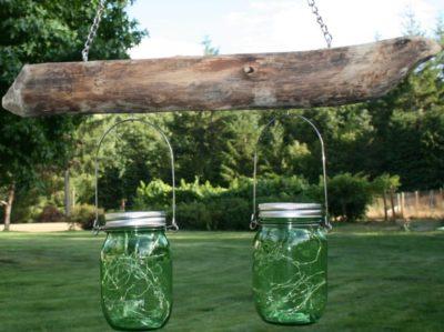 Rustic Driftwood Mason Jar Light