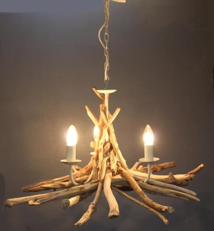 Simple Driftwood Pendant Light Chandelier