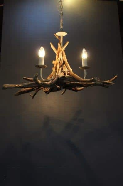 Simple Driftwood Pendant Light Chandelier Chandeliers Wood Lamps