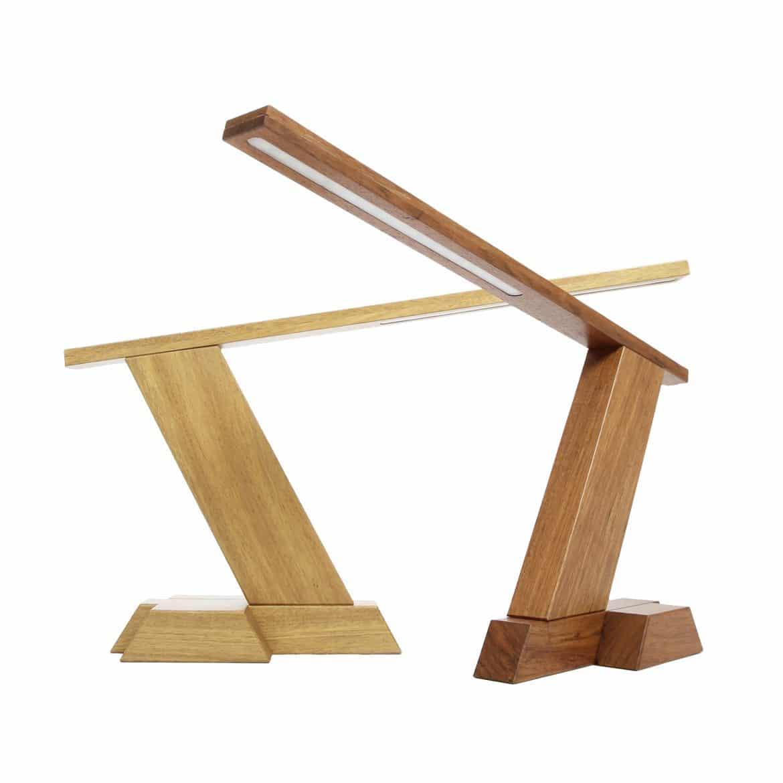 Wooled Solid Wood Diy Led Desk Lamp Id Lights