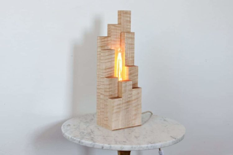 Wood Cityscape Table Lamp - wood-lamps, table-lamps
