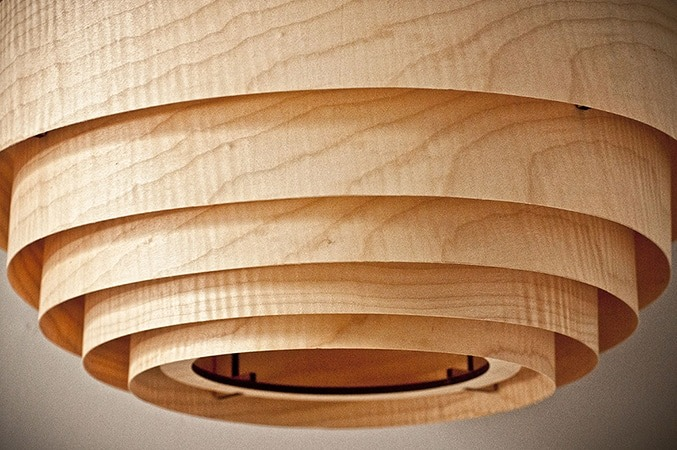 Wood Veneer Boll Lamp