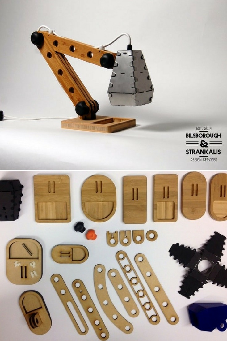 A Construction Desk Lamp Kit For The Big Kid Inside All Of