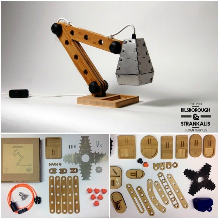 A Construction Desk Lamp Kit for the Big Kid inside all of us Desk Lamps Wood Lamps