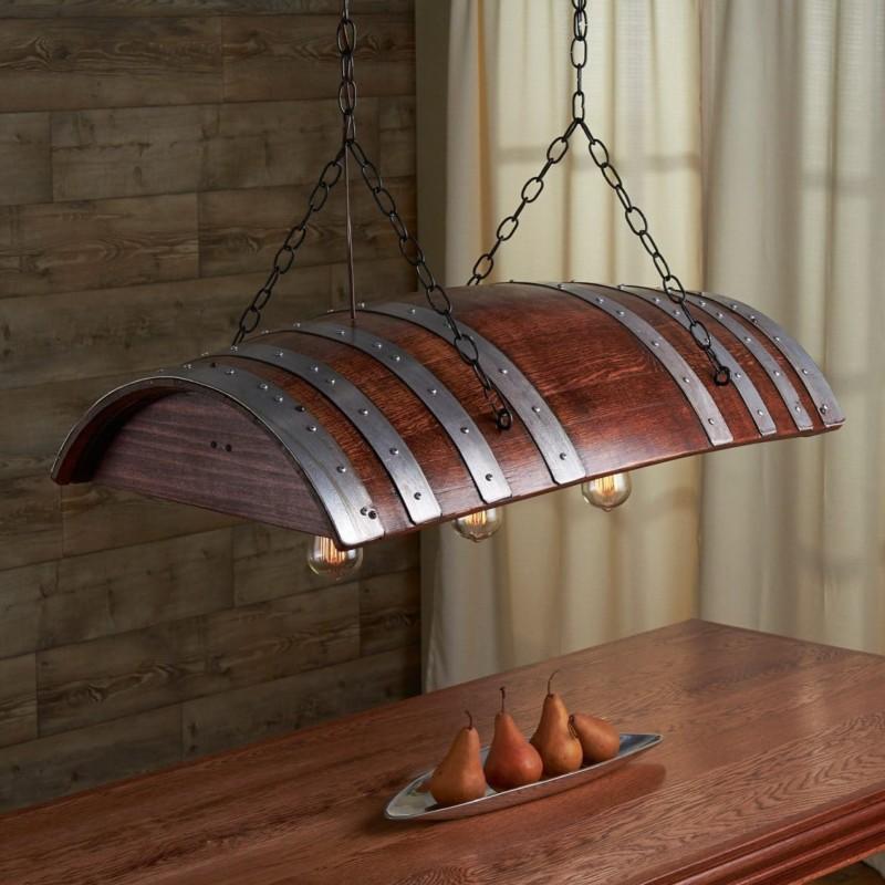 One Third Wine Barrel Hanging Light Id Lights