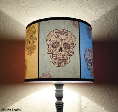 Rainbow Sugar Skulls Lamp Shade