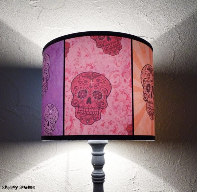 Rainbow Sugar Skulls Table Lamp Table Lamps