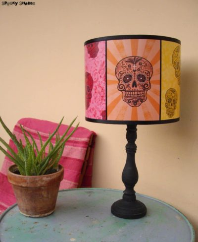 Rainbow Sugar Skulls Table Lamp