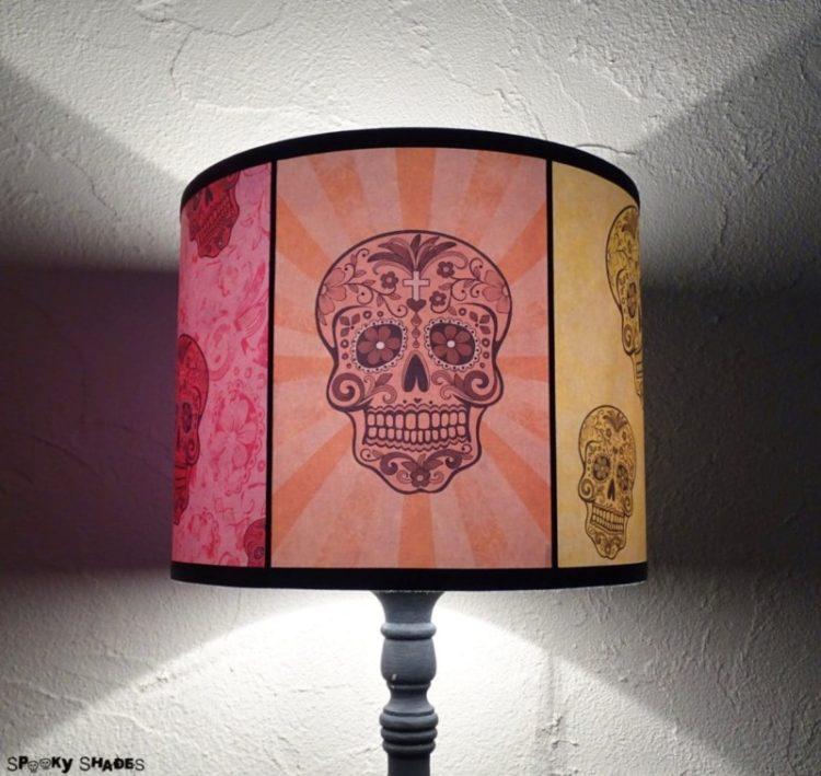 Rainbow Sugar Skulls Table Lamp - table-lamps