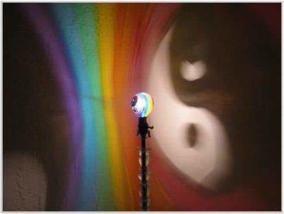 Hand-Painted Yin/Yang Rainbow Mood-Light Bulb