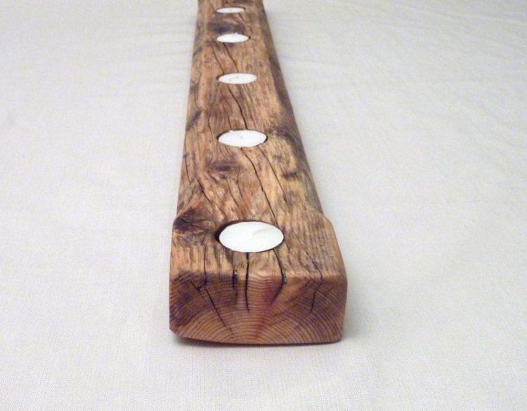Huge Rustic Wooden Candles holder