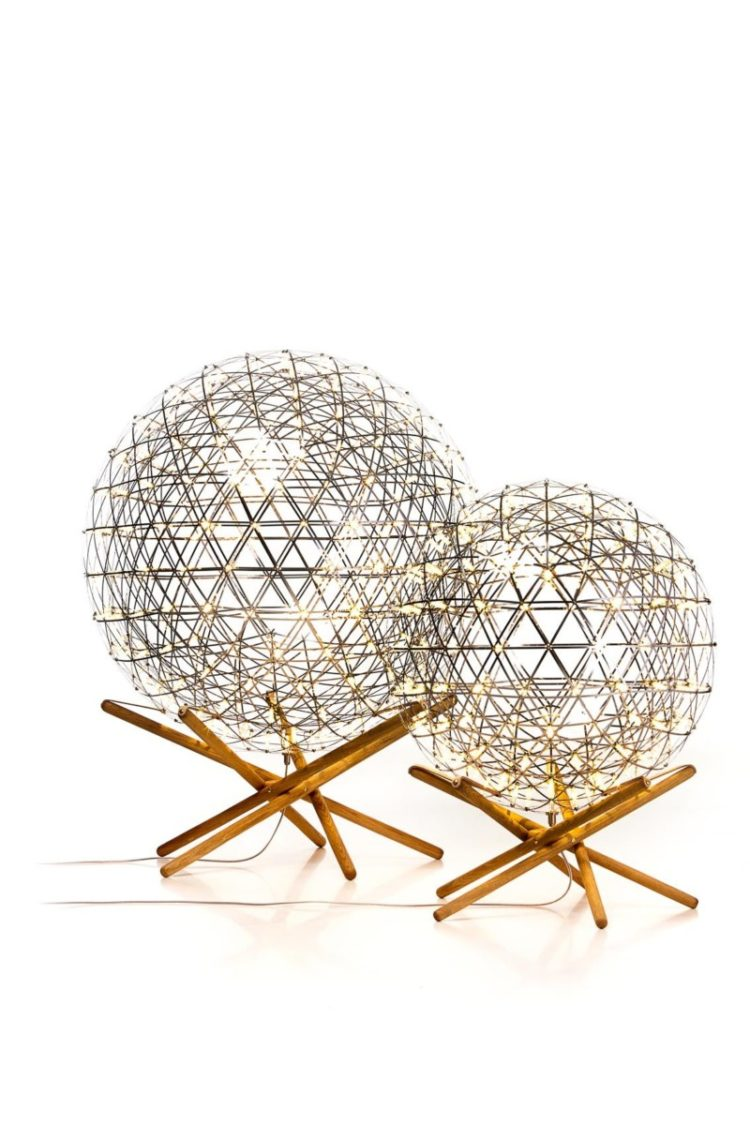 Raimond Tensegrity Sphere Floor Lamp Floor Lamps Wood Lamps