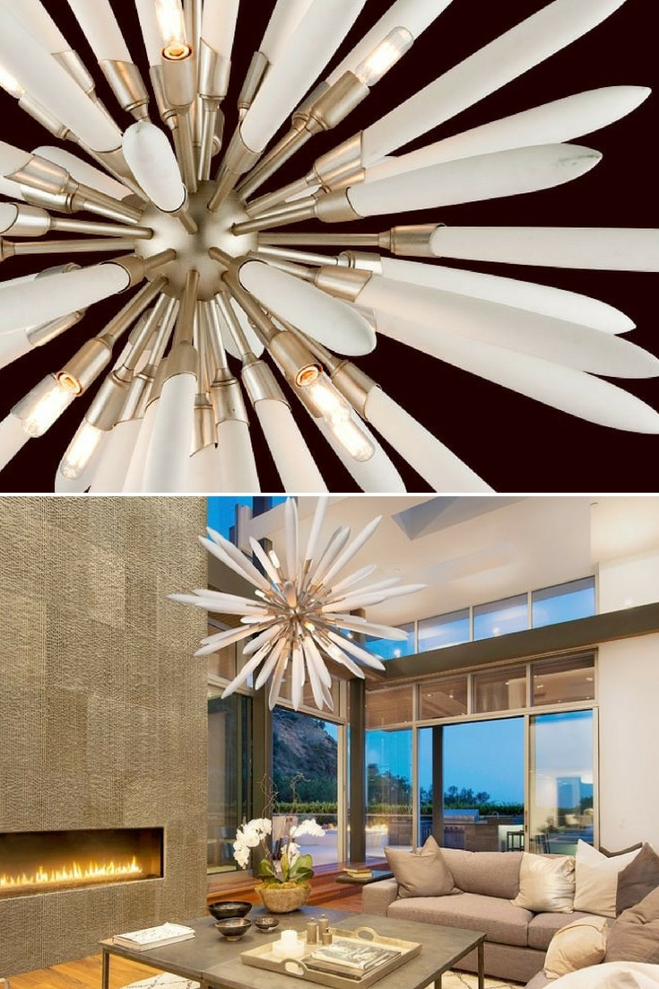 The Altitude is a new version of the 1960s Sputnik-inspired light fitting. This amazing piece takes all the elements of the original Russian space-mobile, then adds a touch of Zen with cool, almost-touchable porcelain. #concept #lamp #lightfixture #lighting #lightingdesign #vintagelighting