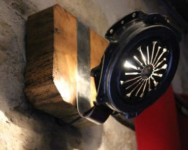 Wall Sconce Made From Clutch Parts