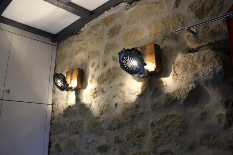 Wall Sconce Farmhouse Lighting with Clutch Parts - wood-lamps, wall-lights-sconces