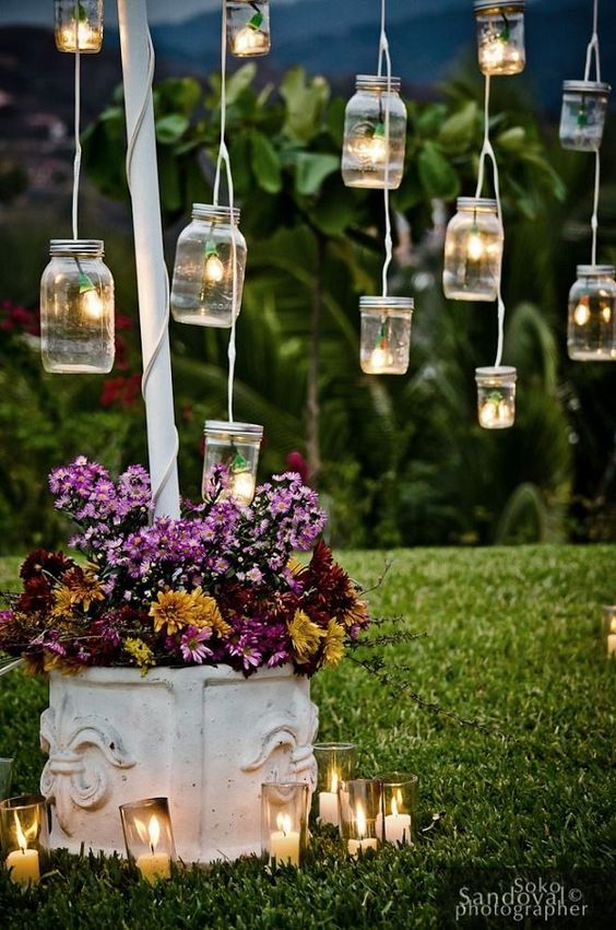 10 outdoor lighting ideas for a shabby chic garden 6 is for Decoration jardin shabby