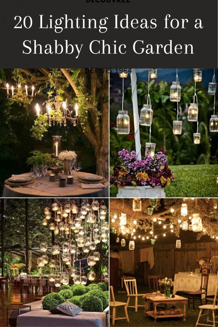 20 Outdoor Lighting Ideas for a Shabby Chic Garden #6 is Lovely