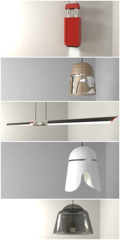 Amazing Star Wars Characters Pendant Lamps-2