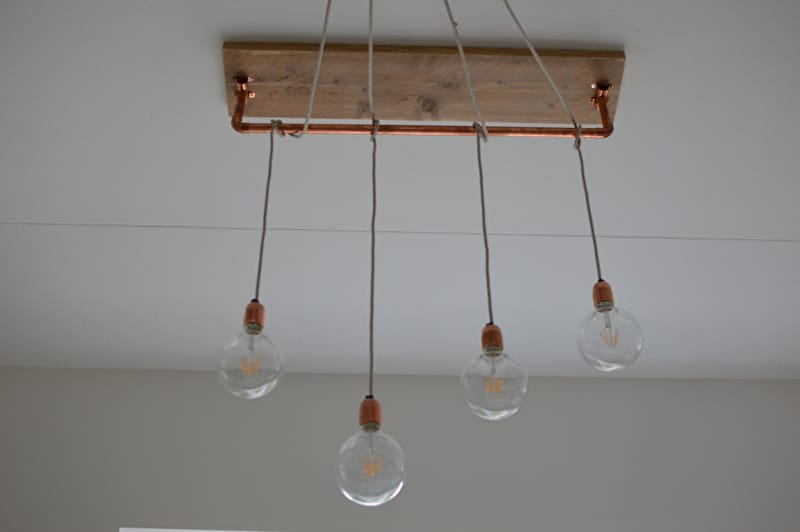Beautiful Brass And Wood Chandelier Id Lights