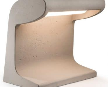 Cement Desk Lamp Designed by Le Corbusier Reissue