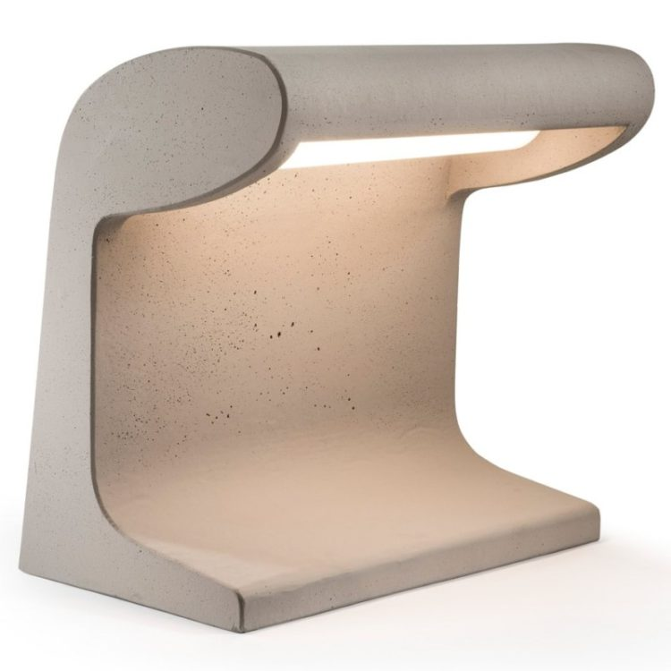 Cement Desk Lamp Designed by Le Corbusier Reissue - desk-lamps