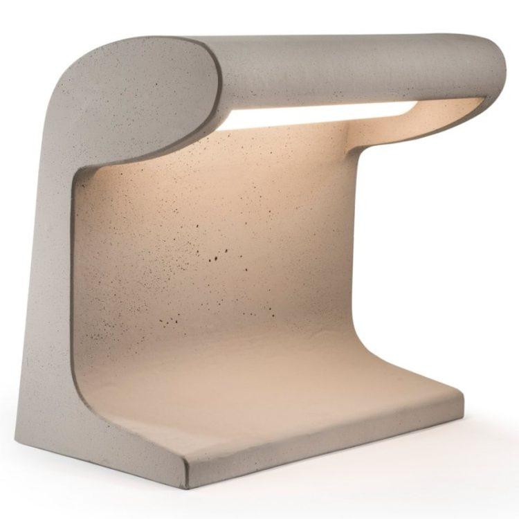 Cement Desk Lamp Designed by Le Corbusier Reissue - desk-lamps