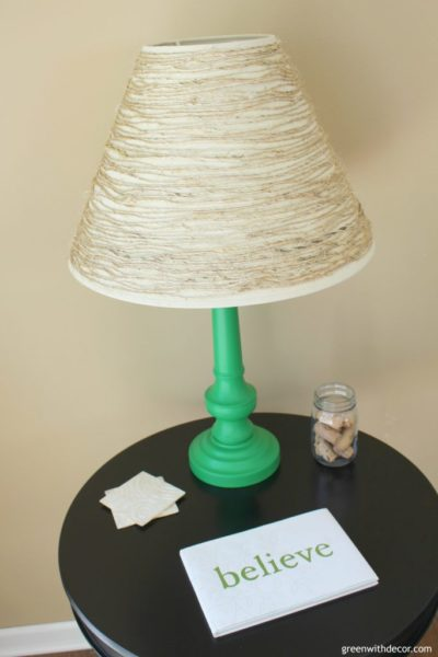 DIY Update an Old Table Lamp with Paint and Twine